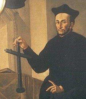 Johann Baptist Cysat - Johann Baptist Cysat, holding a Jacob's staff