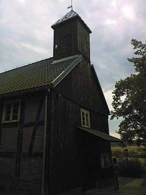Czapielsk - Entrance to church in Czapielsk - Poland