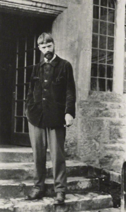 Vintage snapshot print of Lawrence, 29 November 1915, by Lady Ottoline Morrell D.H. Lawrence, 29 November 1915.jpg