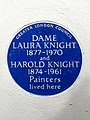 DAME LAURA KNIGHT 1877-1970 and HAROLD KNIGHT 1874-1961 Painters lived here.jpg