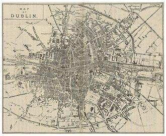 Dublin Metropolitan Police - Image: DINGNAM(1891) p 019 MAP OF DUBLIN
