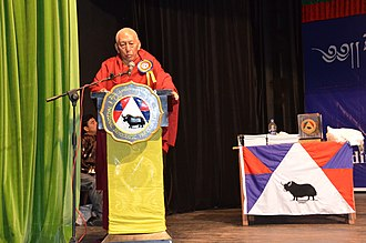 Samdhong Rinpoche at a National Democratic Party of Tibet event on 2 September 2014. DSC 8767 (15583089122).jpg