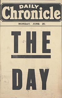 Daily Chronicle placard The Day June 30 1919.jpg