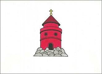 Dalešice (Třebíč District) - Image: Dalešice, Flag