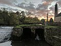 Dam And Sluices 5 Metres South West Of Pleasley Bridge (at sunset) (4).jpg