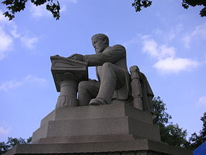 Daniel O'Neill (editor) - Memorial to Daniel O'Neill at his gravesite in the Allegheny Cemetery, Pittsburgh.