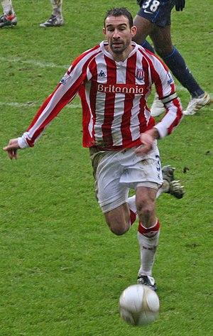 Danny Higginbotham - Higginbotham playing for Stoke City in 2010