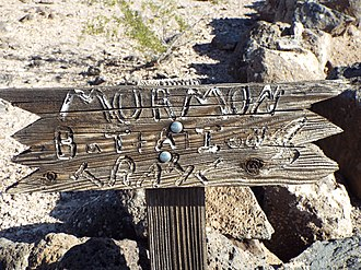 Mormon Trail - Mormon Battalion Trail Marker in Oatman Flats, Dateland, Arizona