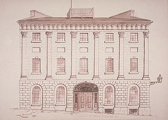 Golden Square Mile - The Montreal townhouse of David Ross on the Champ de Mars, circa 1812