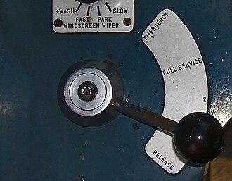 Emergency brake (train) - Image: Davis Metcalfe Brake Handle