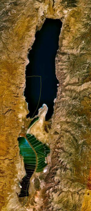 dead sea aerial view