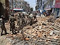 Debris clearance at Bhaundhara residential area by Engineer Task Force on May 02, 2015. following a recent massive earthquake in Nepal.jpg