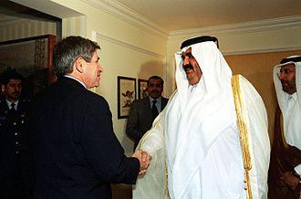 Paul Wolfowitz - Wolfowitz meets with Qatari Emir Hamad bin Khalifa Al Thani, October 5, 2001