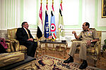 Defense.gov News Photo 111004-F-RG147-1050 - Field Marshal Hussein Tantawi meets with Secretary of Defense Leon Panetta at the Egyptian Ministry of Defense headquarters in Cairo Egypt on Oct.jpg