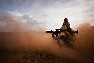 1st Battalion, 25th Marines - A U.S. Marine with 1/25 fires a shoulder-launched multipurpose assault weapon during a small-arms live-fire exercise in Cap Draa, Morocco, during exercise African Lion 2012