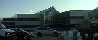 Delaware Memorial Bridge - Delaware River and Bay Authority headquarters in the bridge toll plaza.