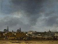 Sicht auf Delft nach der Explosion von 1654