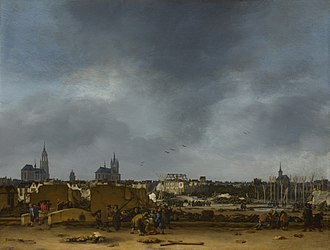 Johannes Vermeer - Egbert van der Poel: A View of Delft after the Explosion of 1654