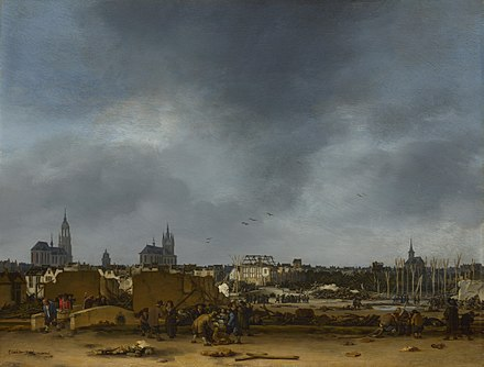 Egbert van der Poel: A View of Delft after the 1654 explosion Delftsedonderslag.jpg