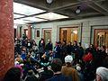 Demonstrators at Portland City Hall.jpg