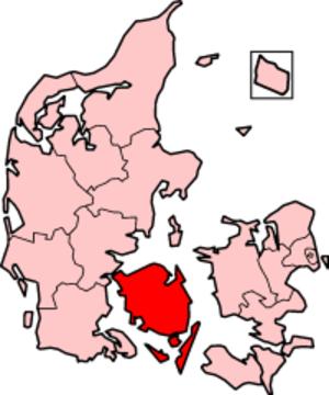 Funen County - Funen County in Denmark
