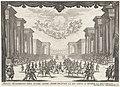 Derde intermezzo de strijd wordt beëindigd door de Liefde Drie intermezzi in het toneelstuk 'La Liberazione di Tirenno, e d'Arnea' van Andrea Salvadori (serietitel), RP-P-OB-20.857.jpg