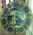 Deruta, piatto da parata con s. francesco che riceve le stimmate, xvi sec.JPG