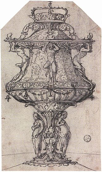 Inventory of Elizabeth I of England - The table fountain designed by Holbein for Anne Boleyn was item no. 998 in the 1574 inventory