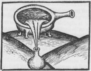 Hieronymus Brunschwig - Image: Destillatio per filtrum