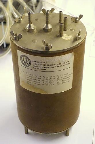 Nils Alwall - Dialysis machine for rabbits, Nils Alwall, 1944