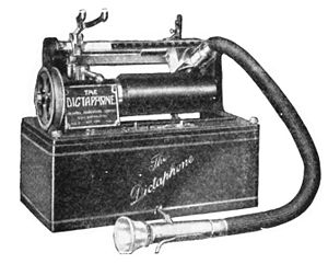 Dictaphone - Dictaphone wax cylinder dictation machine