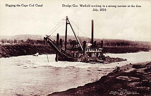 Edwin Warfield - Image: Digging the Cape Cod Canal Dredge Gov. Warfield