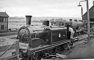 Caledonian Railway 0-4-4T - Ex-Caledonian Railway 0-4-4T no. 55199 at Dingwall Locomotive Depot in 1957