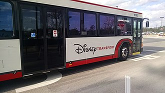 Disney Transport - A Disney Transport bus in operation.