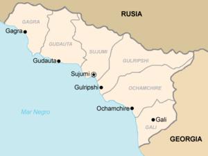 División administrativa de Abjasia