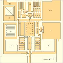Аннотированная карта заупокойного храма Джедкаре Исеси