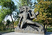 Dmytrivka Monument to WW2 Warriors 02 Centre of Village (YDS 5010).jpg