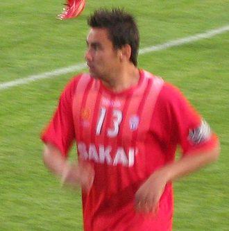 Travis Dodd - Dodd warming-up for Adelaide United in 2008