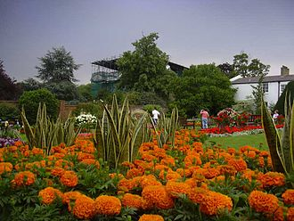 Dollis House, Gladstone Park, as seen from the gardens Dollis Hill House2.jpg