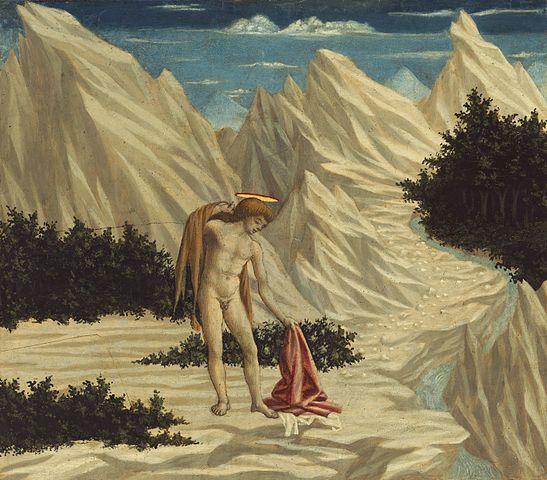 «Иоанн Креститель в пустыне» (Доменико Венециано, 1445 год)
