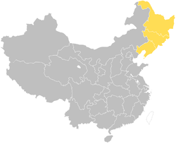 Extent of Northeast China