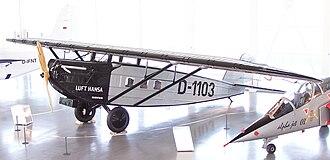 Dornier Komet - Dornier Merkur replica on display