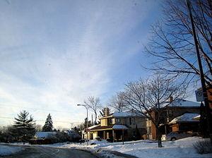 Dorval - Residential street in Dorval.