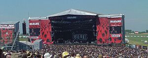 Download Festival - Down playing on the main stage