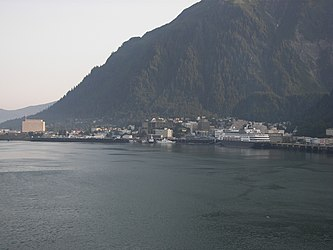 Downtown Juneau and Mount Juneau, Alaska from Gastineau Channel 2.jpg