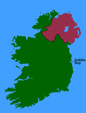 Dublin Bay - Dublin Bay in relation to Ireland