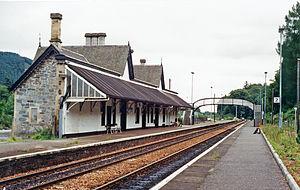 Dunkeld & Birnam railway station - Image: Dunkeld & Birnam station geograph 3870417 by Ben Brooksbank