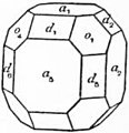 EB1911 Crystallography - Fig. 11.—Clinographic Drawing of a Cubic Crystal.jpg