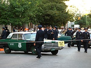 Media in New York City - Filming a period movie in the East Village using antique police cars. New York is a frequent and accommodating shooting location.