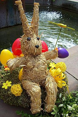 Easter Bunny made of straw
